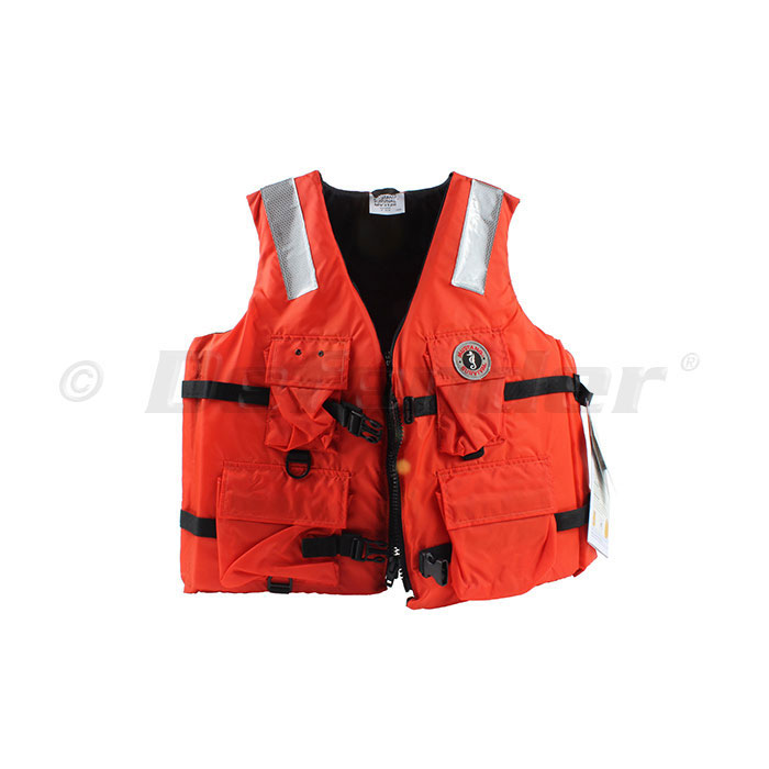 Mustang Four Pocket Commercial / Work Life Jacket / PFD - Small