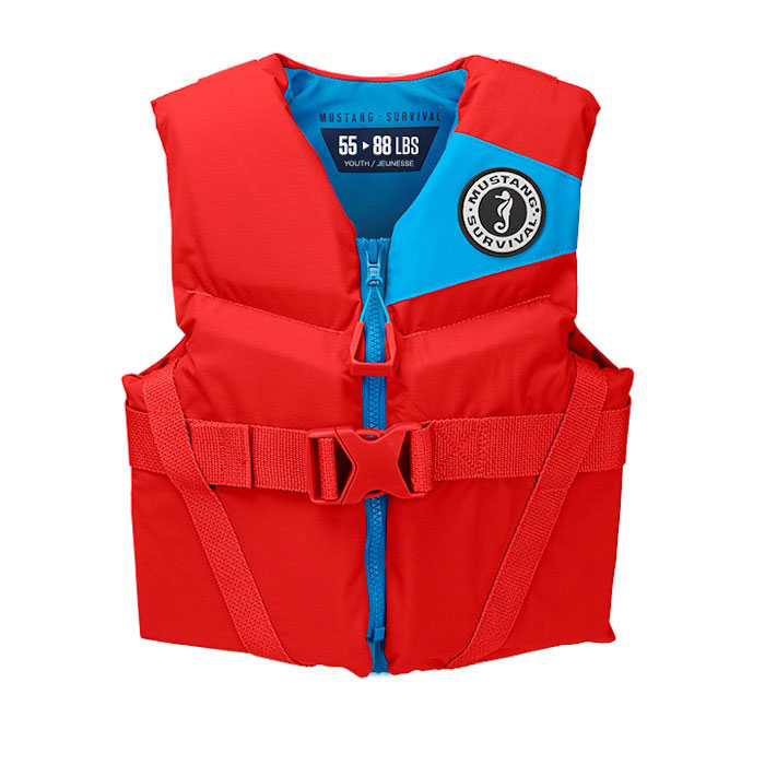 Mustang Rev Youth Vest / Life Jacket / PFD - Imperial Red