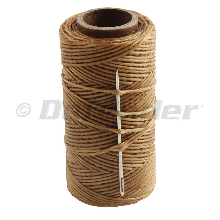 Consolidated Thread Mills Waxed Polyester Sailmakers Twine - 100 Yds - Brown