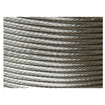 1x19 Stainless Steel Rigging Wire - 1/4 Inch