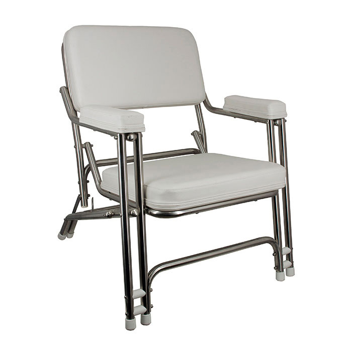 Springfield Classic Folding Deck Chair - Stainless Steel, D