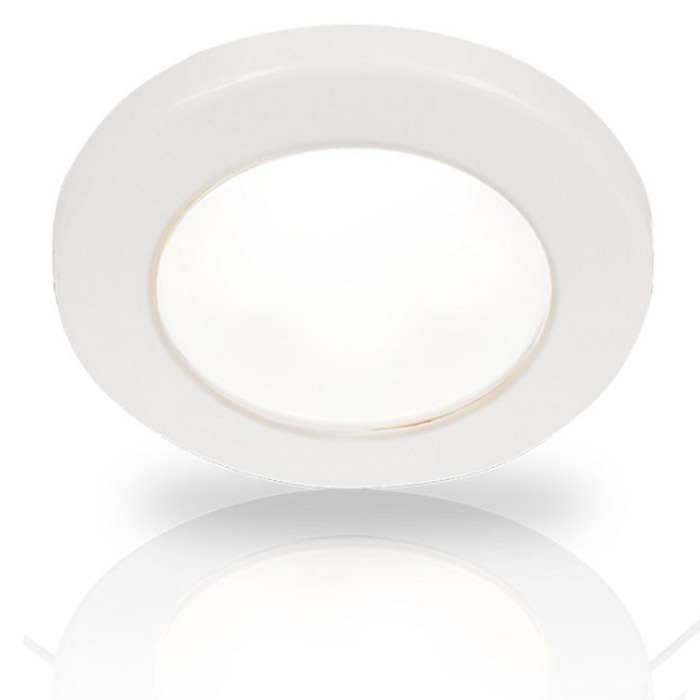 Hella EuroLED 75 LED Down Lights - Screw Mount - 24V Warm White - White Bezel