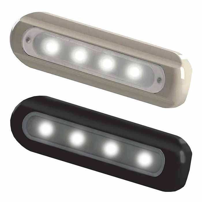 TACO Marine 4-LED Deck Light - Flat Mount