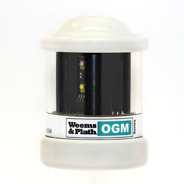Weems & Plath OGM Series Q All Around Anchor LED Nav Light - Photodiode -White