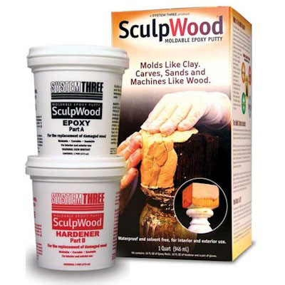 System Three Sculpwood Moldable Epoxy Putty
