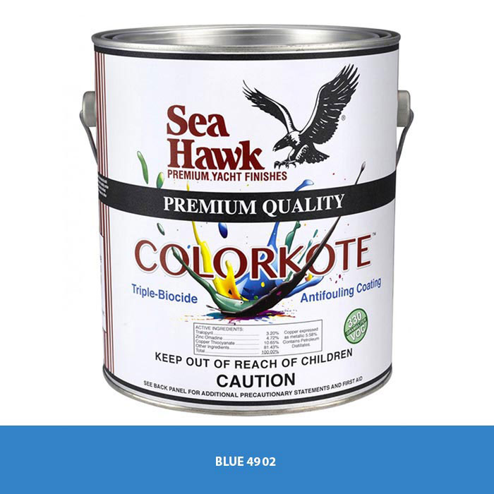 Sea Hawk ColorKote Vibrant Antifouling Bottom Paint - Quart