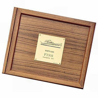 Weems & Plath Teak Wood Log Book Cover
