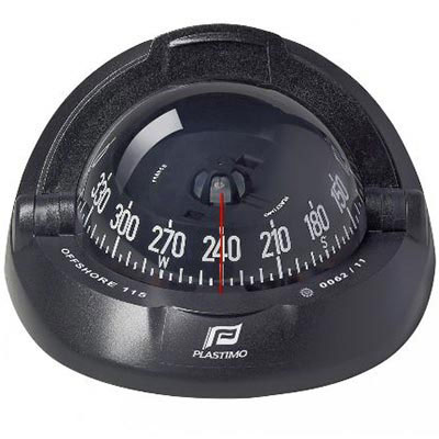 Plastimo Offshore 115 Compass - Horizontal Flush Mount - Conical Card