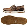 Gill Men's Newport Three-Eye Boat Shoes - Brown