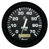 Faria Euro Black 7000 RPM Tachometer with Hourmeter