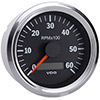 VDO Marine Vision Chrome 6000 RPM Tachometer with Hour meter