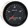 VDO Marine Vision Black 4000 RPM Tachometer with Hour meter