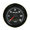 VDO Marine Vision Black 3000 RPM Tachometer with Hour meter