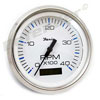 Faria Chesapeake White SS 4000 RPM Diesel Tachometer with Hourmeter