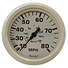 Faria Dress White 80 MPH Speedometer