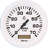Faria Dress White 7000 RPM Tachometer with Hourmeter