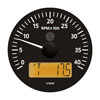 VDO Marine Viewline Onyx 4000 RPM Tachometer with Multifunction LCD