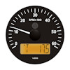 VDO Marine Viewline Onyx 6000 RPM Tachometer with Multifunction LCD