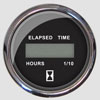 Faria Chesapeake Black SS Digital Hourmeter