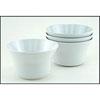 Gallyware 1405 Non-Skid Nesting Soup Bowls - Solid White