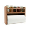 SeaTeak Spice And Paper Towel Rack
