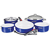 Magma 10-Piece Stainless Steel Nesting Cookware Set with Cobalt Blue Finish