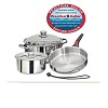 Magma 7-Piece Nesting Cookware Set with Stainless Steel Interior