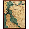 Wood Chart San Francisco Bay Area - Large Size - Internet Orders Only
