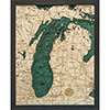 Wood Chart Lake Michigan - Small Size - Internet Orders Only