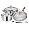Magma 7-Piece Induction Gourmet Cookware Set with Stainless Steel Interior