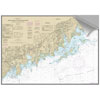 Maptech Decorative Nautical Charts - N. Shore Long Island, Stamford, Norwalk