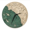 Wood Chart Los Angeles to San Diego Wall Clock