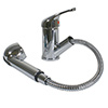 Scandvik Single-Lever Swivel Spout Galley Mixer with Pull-Out Sprayer