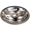 Scandvik 10757 Mirror Finish Stainless Steel Oval Sink