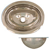 Scandvik Polished Finish Stainless Steel Oval Sink