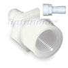 White Nylon Hose Connector - Barb to Pipe