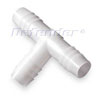 White Nylon Hose TEE Connector / Adapter