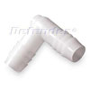 White Nylon Hose Elbow Connector / Adapter