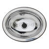 Ambassador Ultra-Mirror Finish Stainless Steel Oval Sink