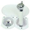 Scandvik Recessed Transom Shower with T-Handle Mixing Valve