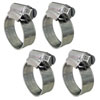 Trident Non-Perforated Marine Grade Sanitation and Fuel Hose Clamps - 4-Pack