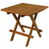 SeaTeak Square Folding Deck Table