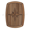 EUDE Nautic Star Teak Table — Classic, Barrel-Shaped