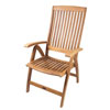 SeaTeak Weatherly Folding 6-Position Deck Chair