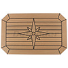 EUDE Composite Teak Table with Nordic Star, Cut Corners