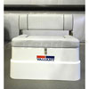 Mercury Folding Bench Seat w/White Fiberglass Base